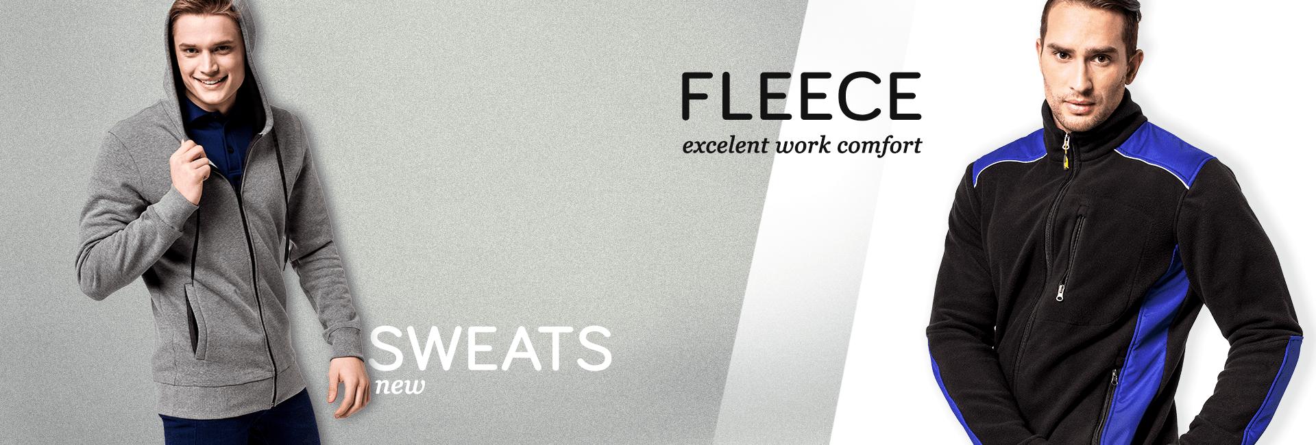 Fleece clothing & sweatshirts
